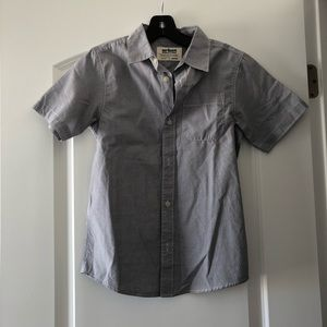 Boys Urban Pipeline Gray Button Up Shirt